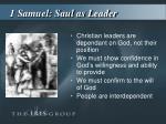 1 samuel saul as leader