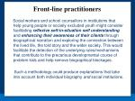 front line practitioners