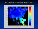 gps map of sed plume mar 31 2001