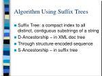 algorithm using suffix trees
