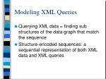 modeling xml queries2
