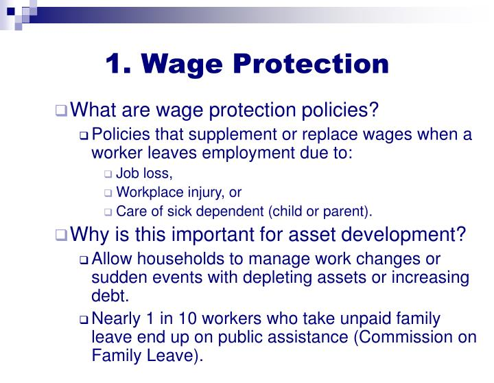 1. Wage Protection