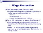 1 wage protection