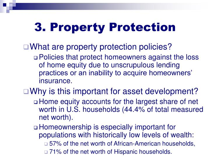 3. Property Protection
