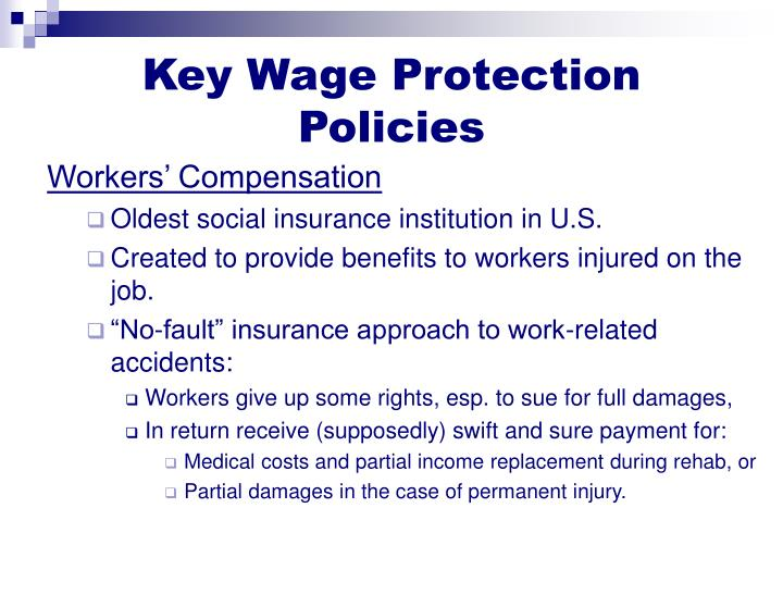 Key Wage Protection Policies
