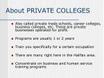 about private colleges
