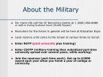about the military