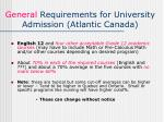 general requirements for university admission atlantic canada