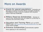 more on awards