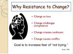 why resistance to change