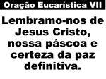 lembramo nos de jesus cristo nossa p scoa e certeza da paz definitiva