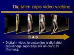 digitalen zapis video vsebine