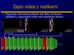 zapis videa z razlikami