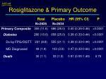rosiglitazone primary outcome