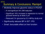 summary conclusions ramipril