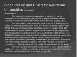 globalization and diversity australian universities continued