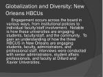 globalization and diversity new orleans hbcus