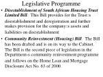 legislative programme
