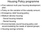 housing policy programme