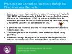 protocolo de control de piojos que refleje las directrices m s recientes