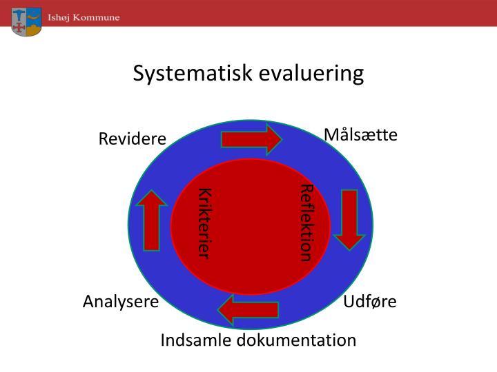 Systematisk evaluering