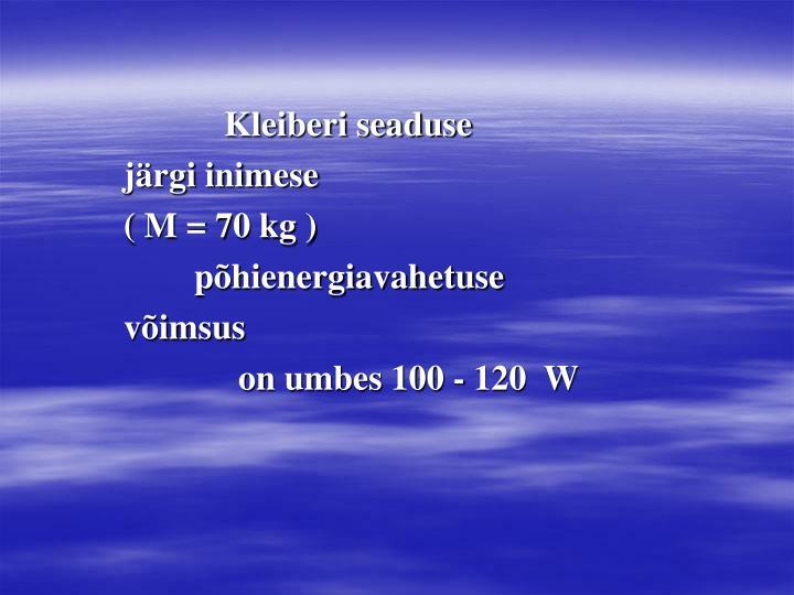 Kleiberi seaduse