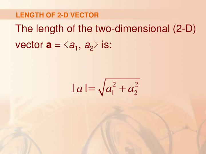 LENGTH OF 2-D VECTOR