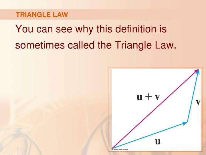 TRIANGLE LAW