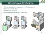 workgroup authentication