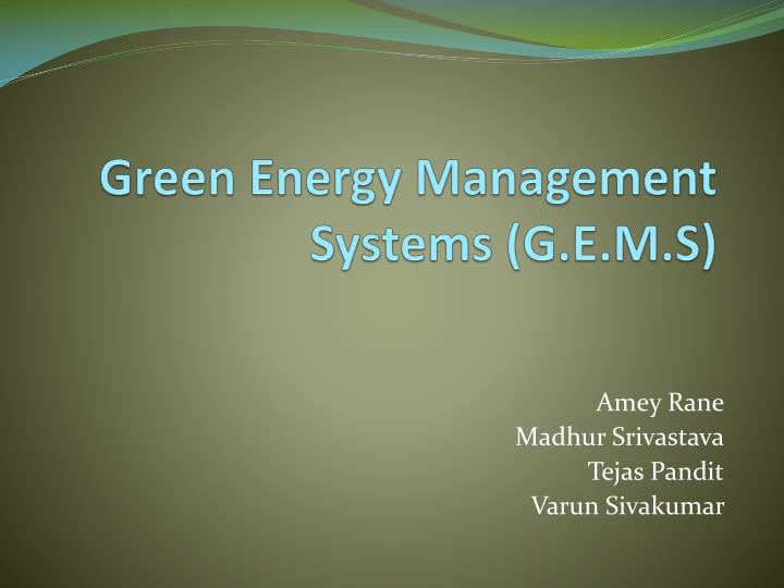 green energy management systems g e m s n.