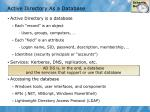 active directory as a database