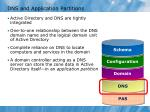 dns and application partitions
