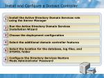 install and configure a domain controller