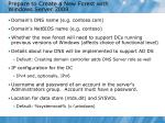 prepare to create a new forest with windows server 2008