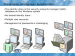 stand alone workgroup authentication