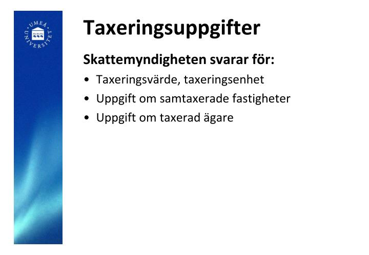 Taxeringsuppgifter