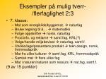 eksempler p mulig tverr flerfaglighet 2 3