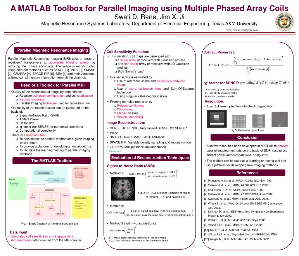 PPT - A MATLAB Toolbox for Parallel Imaging using Multiple Phased