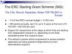 the erc starting grant scheme stg