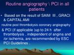 routine angiography pci in all patients