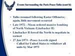 events surrounding the paris peace talks cont d