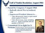 gulf of tonkin resolution august 1964