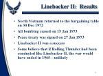 linebacker ii results