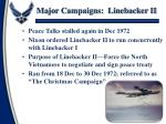 major campaigns linebacker ii