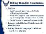 rolling thunder conclusions