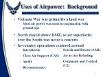uses of airpower background
