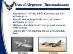 uses of airpower reconnaissance