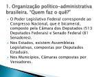 1 organiza o pol tico administrativa brasileira quem faz o qu4