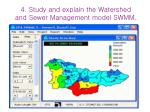 4 study and explain the watershed and sewer management model swmm14