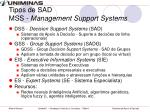 tipos de sad mss management support systems